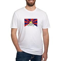 Tibetan Flag Fitted T-Shirt