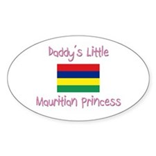 Daddy's little Mauritian Princess Oval Decal