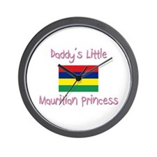 Daddy's little Mauritian Princess Wall Clock