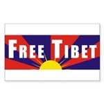 Free Tibet Rectangle Sticker 10 pk)