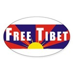 Free Tibet Oval Sticker