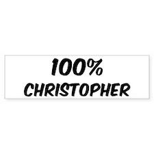 100 Percent Christopher Bumper Bumper Sticker