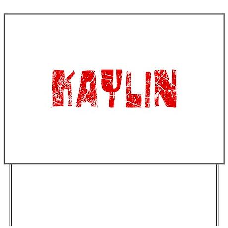 Kaylin Faded (Red) Yard Sign