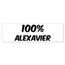 100 Percent Alexavier Bumper Bumper Sticker
