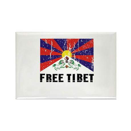Free Tibet Rectangle Magnet (100 pack)