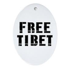 Free Tibet Oval Ornament