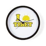 I Love Tibet Wall Clock