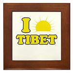 I Love Tibet Framed Tile