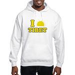 I Love Tibet Hooded Sweatshirt