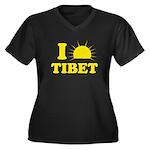 I Love Tibet Women's Plus Size V-Neck Dark T-Shirt