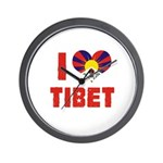 I Love Tibet Wall Clock