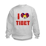 I Love Tibet Kids Sweatshirt