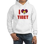 I Love Tibet Hooded Sweatshirt
