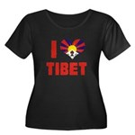 I Love Tibet Women's Plus Size Scoop Neck Dark T-S