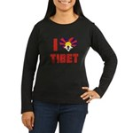 I Love Tibet Women's Long Sleeve Dark T-Shirt