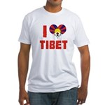 I Love Tibet Fitted T-Shirt