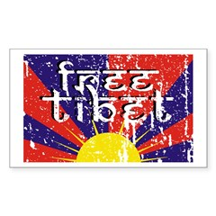 Free Tibet Rectangle Sticker