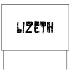 Lizeth Faded (Black) Yard Sign