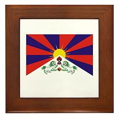 Flag of Tibet Framed Tile