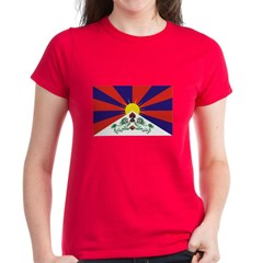 Flag of Tibet Women's Dark T-Shirt