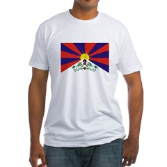 Flag of Tibet Fitted T-Shirt