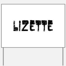 Lizette Faded (Black) Yard Sign