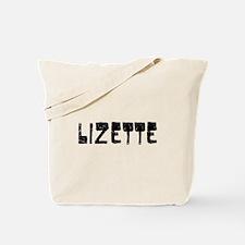 Lizette Faded (Black) Tote Bag