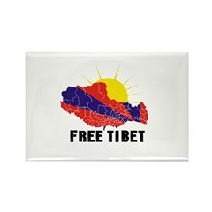 Free Tibet Rectangle Magnet (100 pack)