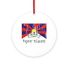 Free Tibet Ornament (Round)