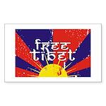 Free Tibet Rectangle Sticker 10 pk)