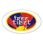 Free Tibet Oval Sticker (50 pk)