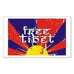 Free Tibet Rectangle Sticker