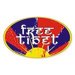 Free Tibet Oval Sticker