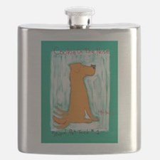 Golden Cookie On The Nose - Stupid Pet Trick Flask