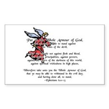 Whole Armour of God Rectangle Decal