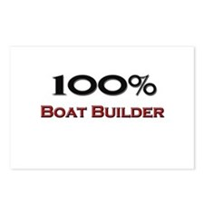 100 Percent Boat Builder Postcards (Package of 8)