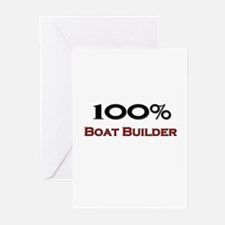 100 Percent Boat Builder Greeting Cards (Pk of 10)