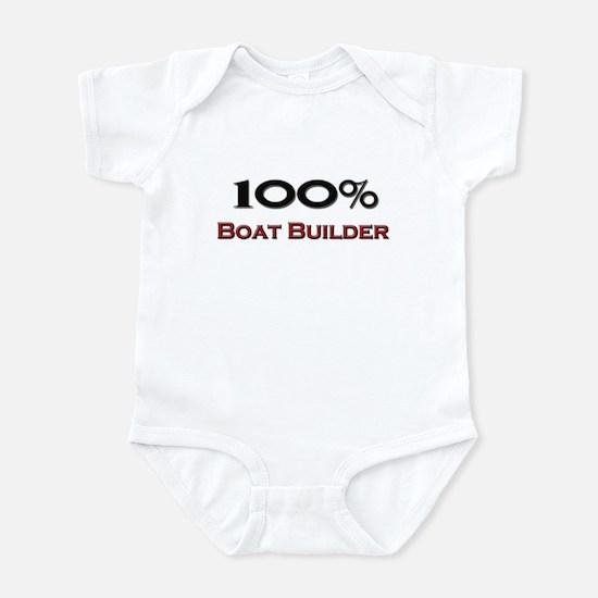 100 Percent Boat Builder Infant Bodysuit