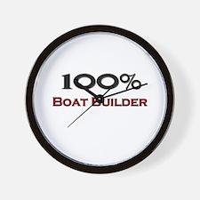 100 Percent Boat Builder Wall Clock