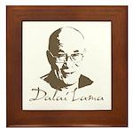 Dalai Lama Framed Tile