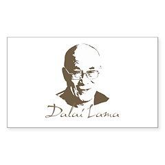 Dalai Lama Rectangle Sticker 50 pk)