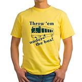 Bus Mens Classic Yellow T-Shirts