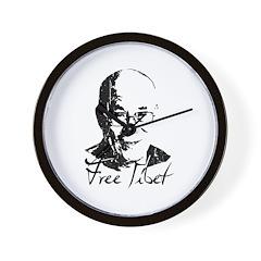 Free Tibet Wall Clock