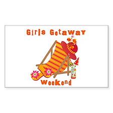 Girls Getaway Weekend Rectangle Decal