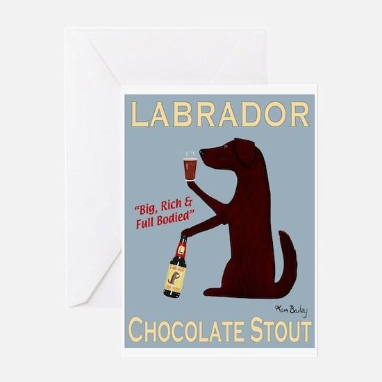 Labrador Chocolate Stout Greeting Card