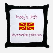 Daddy's little Macedonian Princess Throw Pillow