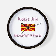 Daddy's little Macedonian Princess Wall Clock