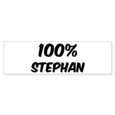 100 Percent Stephan Bumper Bumper Sticker