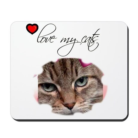 LOVE MY CATS Mousepad