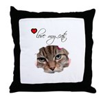LOVE MY CATS Throw Pillow